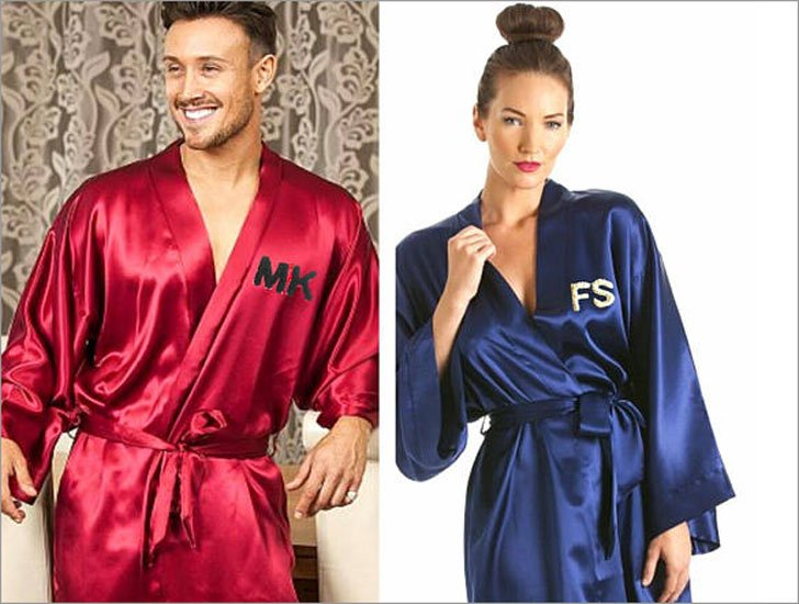 Luxurious His & Hers Embroidered Kimono Robes
