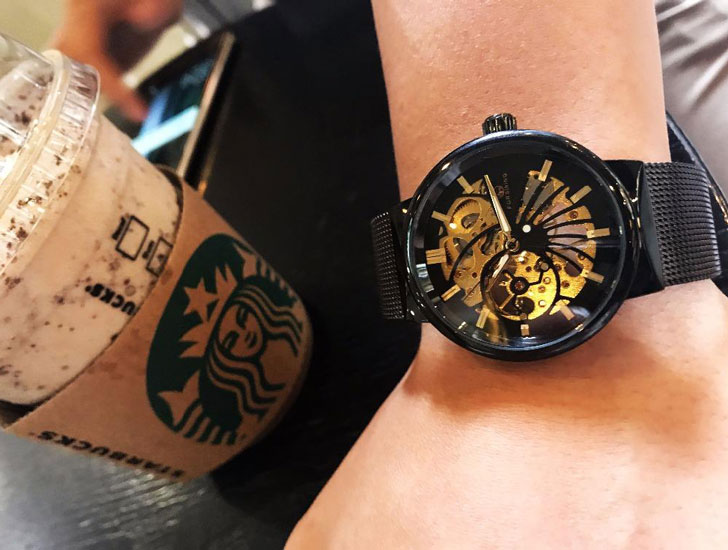 'Machina' Steampunk Skeleton Watch
