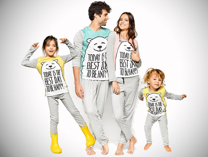 Matching Daddy Bear and Me Family Pajama Set