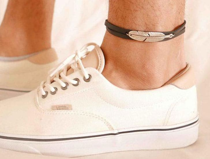 Mens Feather Ankle Bracelet
