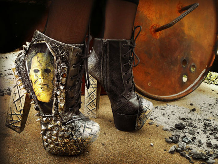 "Michael Myers ""Halloween"" Studded Ankle Heels"
