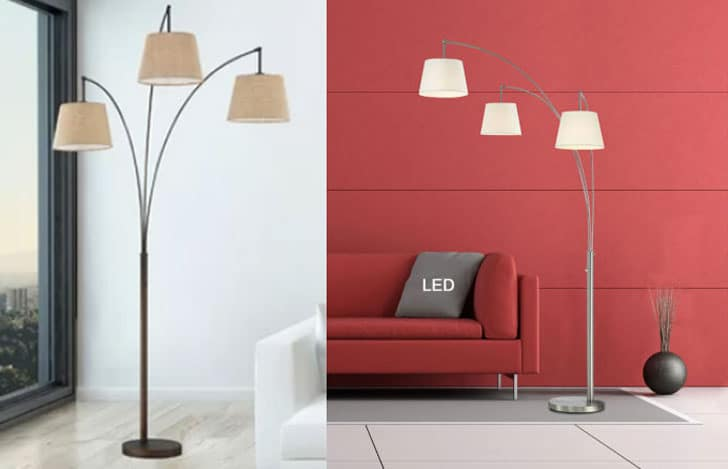 """Palumbo 84"""" LED Arched Floor Lamp"""