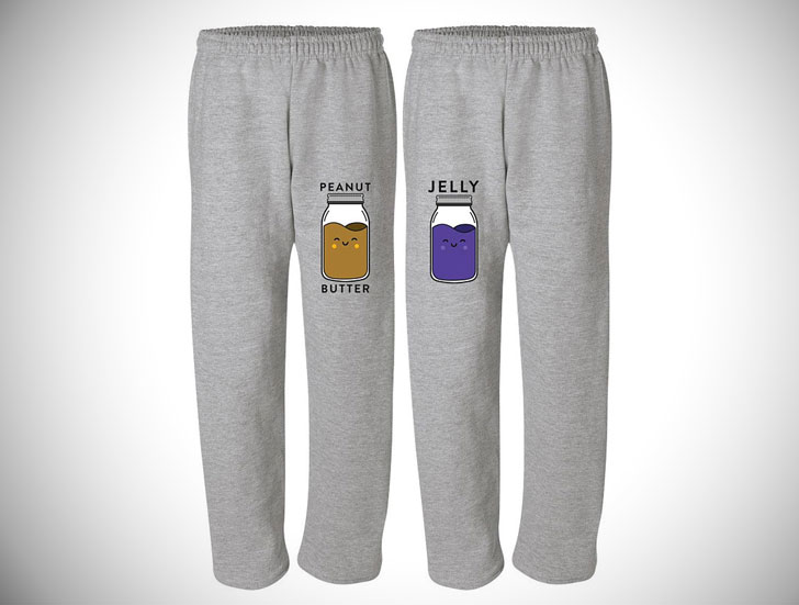 Peanut Butter & Jelly Couple Pajama Sweatpants