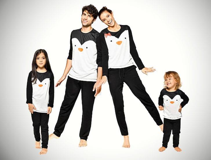 Penguin Family Pajamas Matching Set
