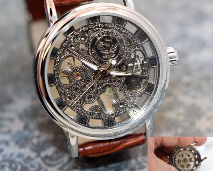 Personalized Engraved Mens Steampunk Watch