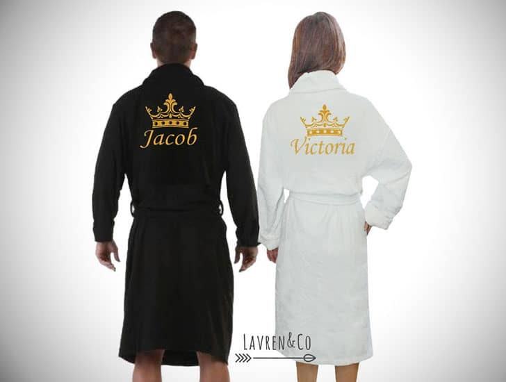 Personalized His and Hers Dressing Gowns