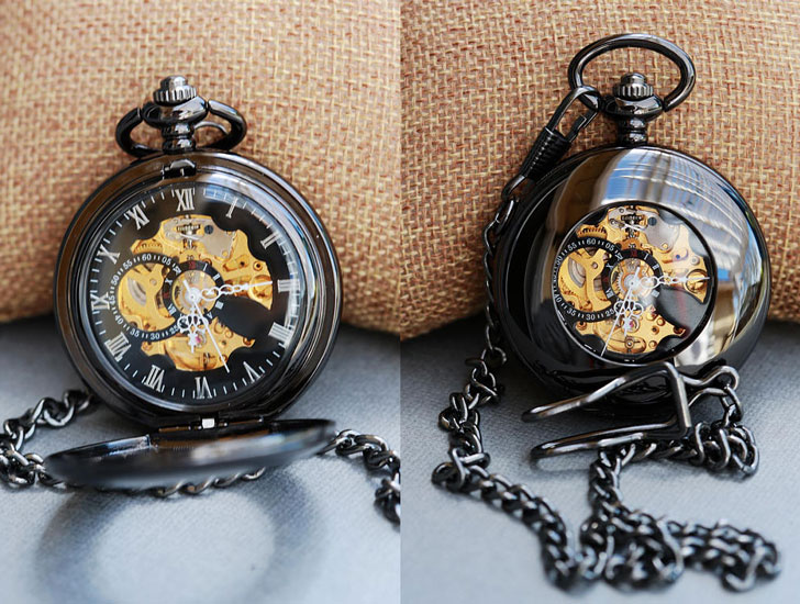 Personalized Steampunk Pocket Watch