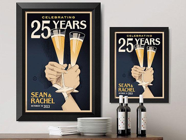 Personalized Toast Anniversary Art