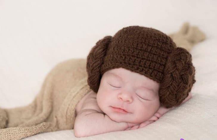 Princess Leia Crochet Baby Hats
