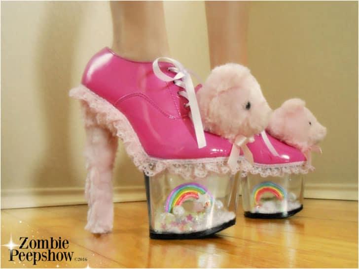 Rainbow Bear Heels