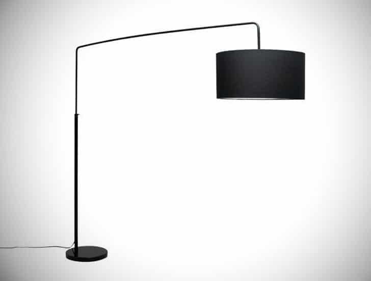 """Raku 65"""" Arched Floor Lamp"""