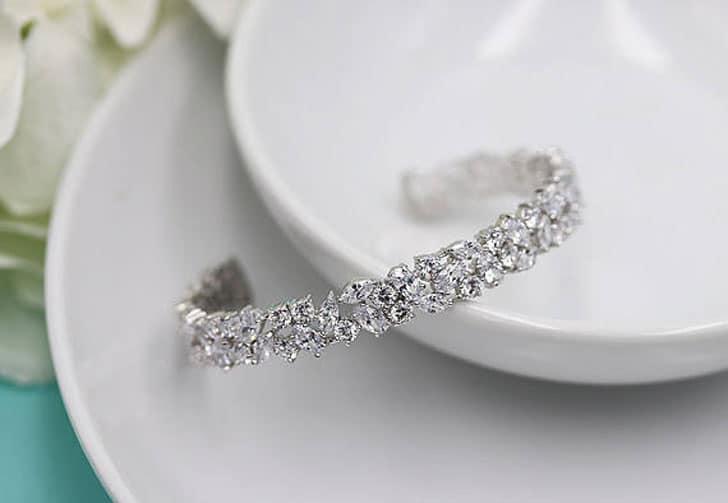 Silver Cubic Zirconia Wedding Bracelet - wedding bracelets