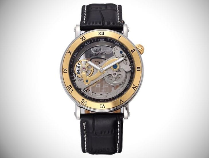 Skeleton Automatic Mechanical Steampunk Watch