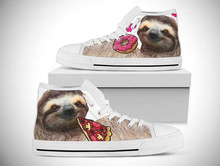 Sloth Themed Custom Womens Sneakers