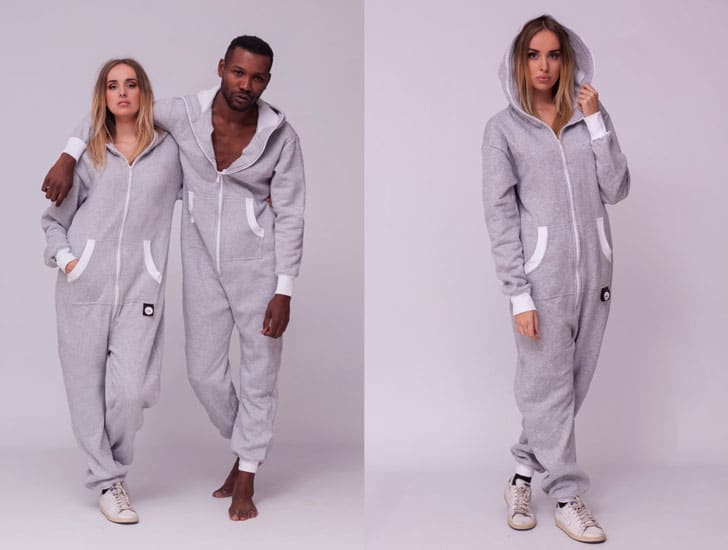 Sofa Killer Light Grey Adult Onesie Pyjamas