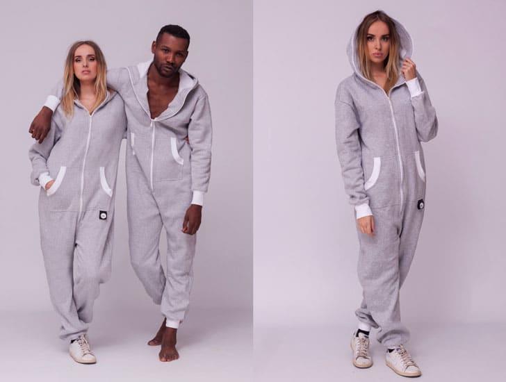 Sofa Killer Light Grey Adult Onesie Pyjamas
