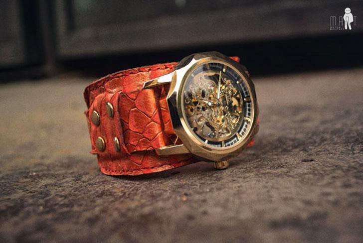 Steampunk Dragon Wrist Watch - steampunk watches