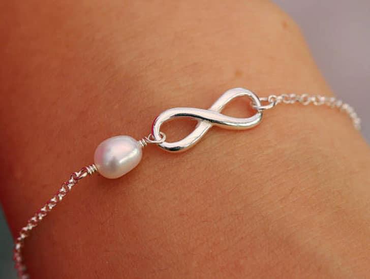 Sterling Silver Infinity Knot Bracelet - wedding bracelets