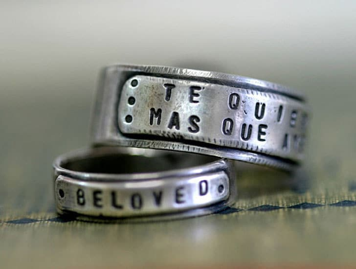 Sterling Silver Personalized Mens Rings