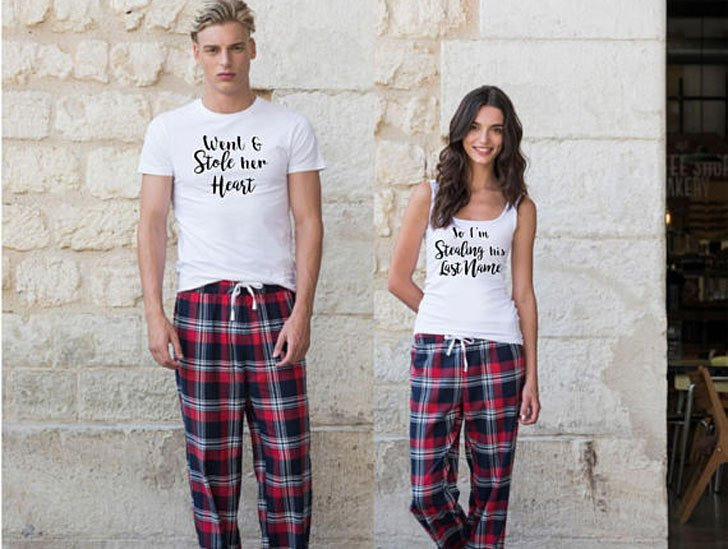 Stole Her Heart & Stealing His Last Name Matching Pyjamas