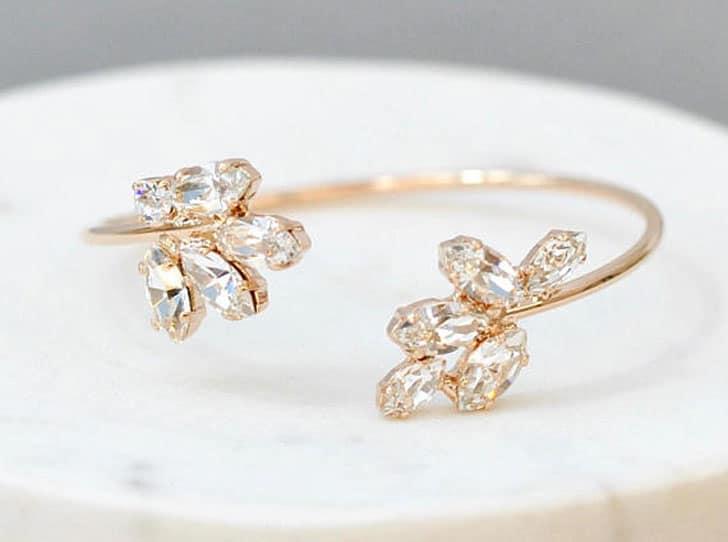 Swarovski Crystal Wedding Cuff