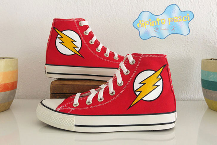 The Flash Hand Painted Custom Shoes
