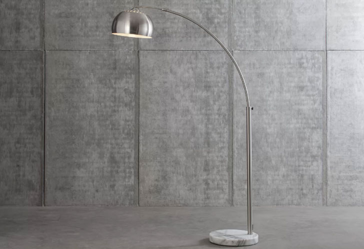 Wade Logan Lubbock Arched Floor Lamp