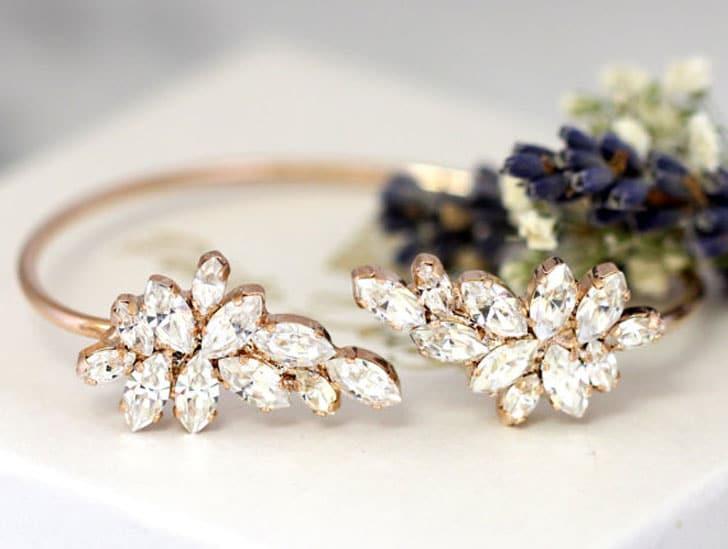 White Crystal Swarovski Bride or Bridesmaids Bracelets