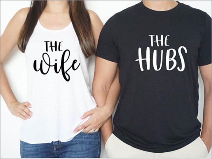 Wife and Hubs Shirt Set