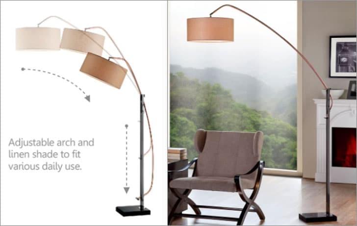 """Wynnwood 78.5"""" Arched Floor Lamp"""