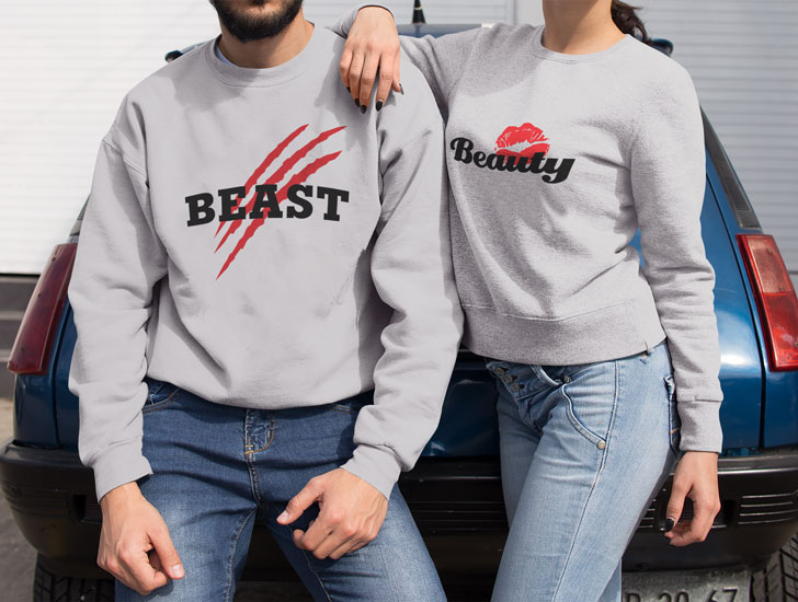 Beauty and the Beast Couple Sweaters