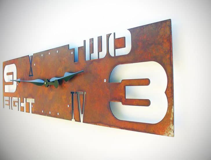 Abstract Industrial Wall Clock