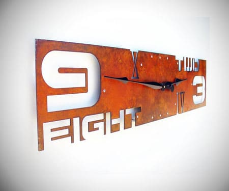 Abstract Industrial Wall Clock