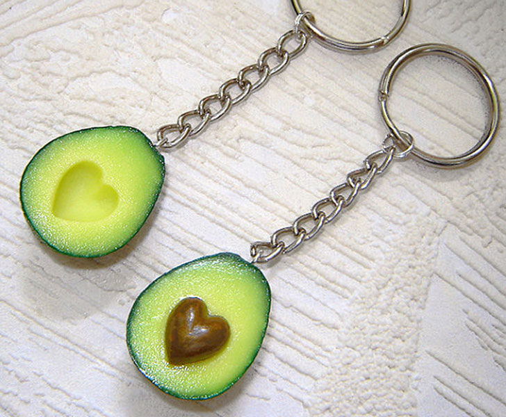 Avovado Halves Couples Keychains