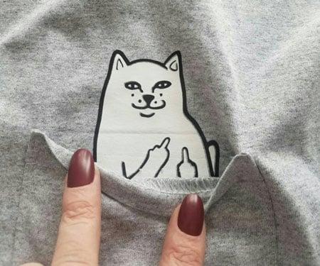 Bad Cat Pocket Shirt