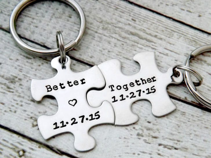 Better Together Puzzle Keychains