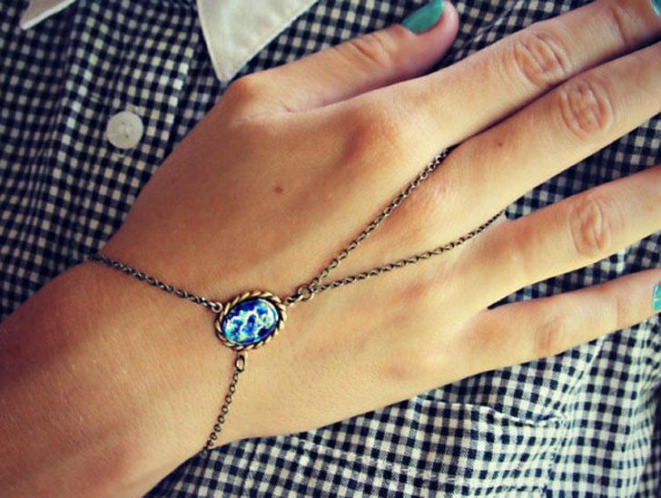 Blue Opal Slave Bracelet