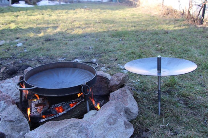 Cast Iron Campfire Frying Pan Skillets