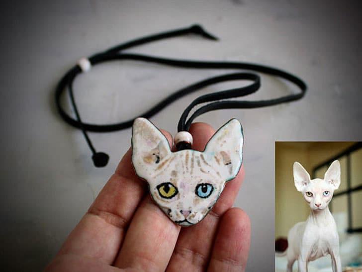 Cat Portrait Necklace