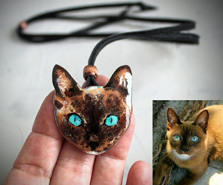 Cat Portrait Necklace