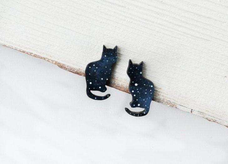 Cosmic Cat Earrings