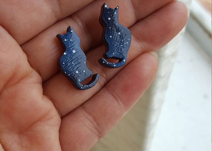 Cosmic Cat Earrings