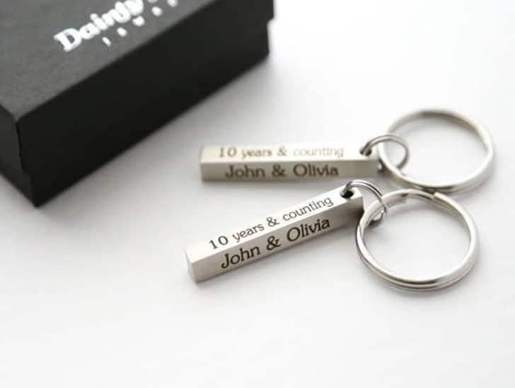 Couples Custom Bar Keyring Set