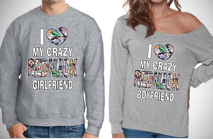 Crazy Redneck Couple Sweatshirts