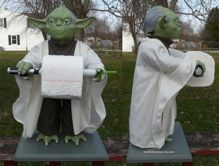 Custom Star Wars YODA Toilet Paper Holder