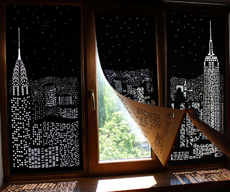 Cutout Blackout Skyline Curtains