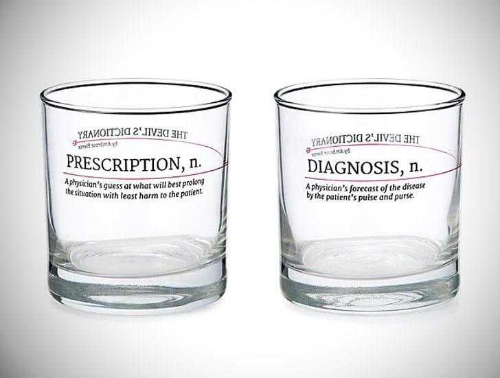 Devil's Dictionary Medicine Glasses
