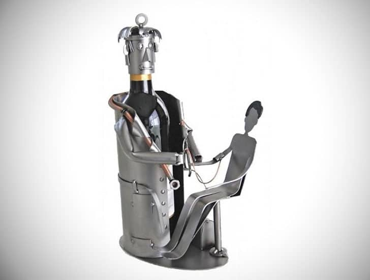 Doctor with Patient Single Bottle Wine Rack