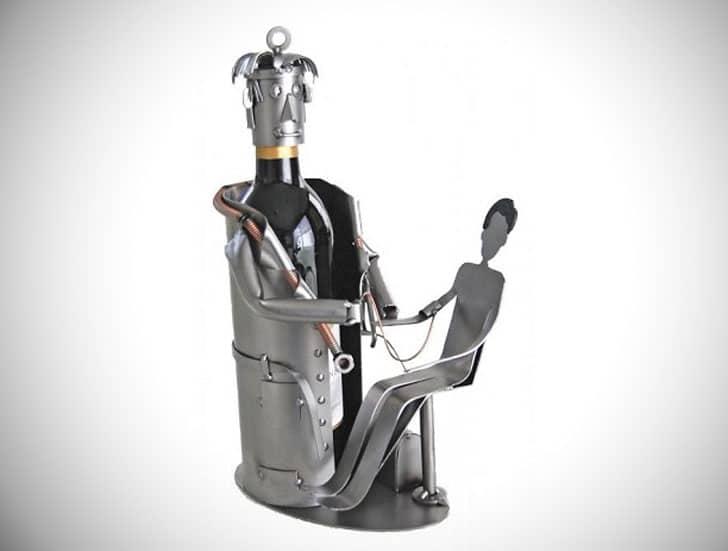 Doctor with Patient Single Bottle Wine Rack