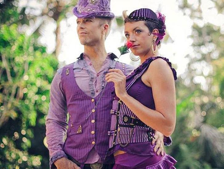 Flamboyant Purple Steampunk Festival Suit Vest